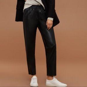 Nwot Aritzia faux leather pants